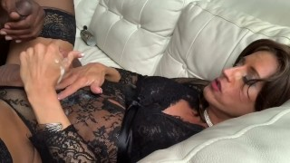 Glamgurlxoxo: sexy cd cums while getting fucked by BBC