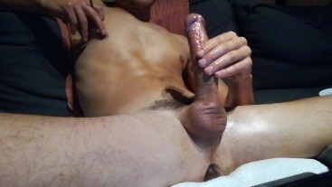 Ass play and big load of cum