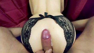 Young Milf Got Cum on Her Big Ass After Big Tits Therapy