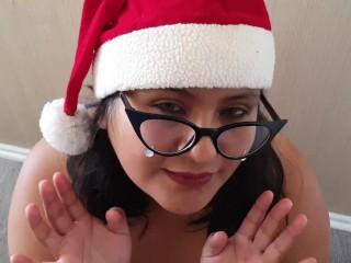 Tetas perfectas y tragada para esta navidad