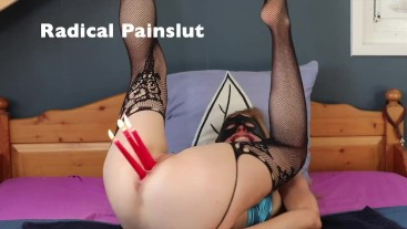 EXTREME OBJECTS INSERTIONS IN ASS FOR SUBMISSIVE PAINSLUT