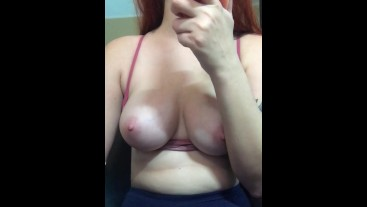 Webcam Tease - Girl Suck Toy And Show Tits