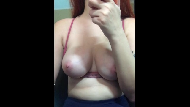 Sucking on tits webcam Webcam tease - girl suck toy and show tits