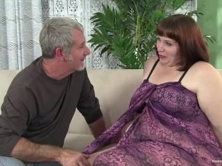Older guy fucks an amateur brunette plumper Jay Crew