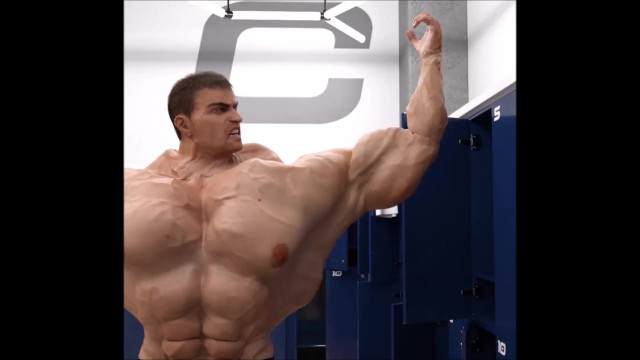 Male gay fetish - Gary turns into a bodybuilder