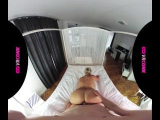 VRConk Busty Blonde Waiting For Postman To Fuck Him VR Porn