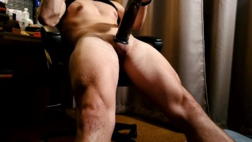 Pumping up my thick cock