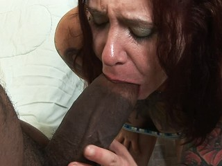 Real amateur hot redhead homegrl takes one of the bggest BBC cocks ever