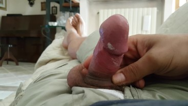 Nothing to do. Playing with my cock