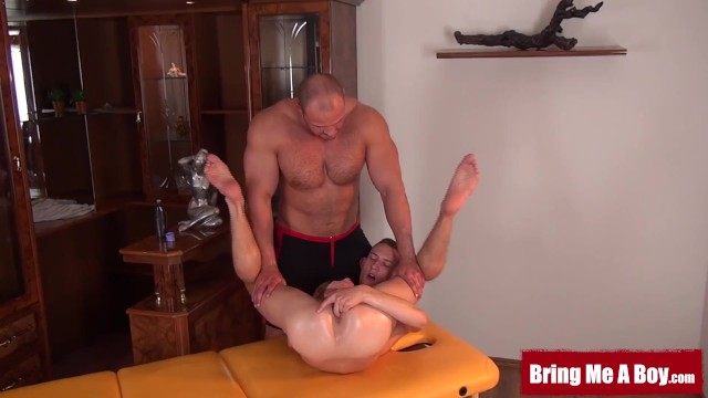 Kinky mastrobation ideas gay Muscular daddy helps young marek cum with kinky massage