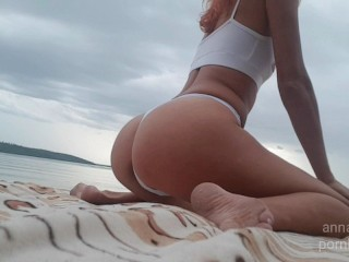 Squrt on the beach AnnalBelle