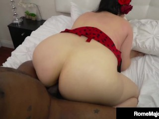 Pale Plump Pinup Julia Rocket Hard Fucked By BBC Rome Major!