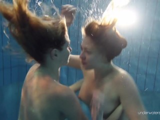 Horny Underwater Nastya video: Duna and Nastya horny underwater lesbians