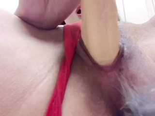 Asian Babe plays with dripping wet pussy & inserts butt plug in tight ass