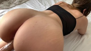 Screen Capture of Video Titled: My Milf Step Mom Helps Me With My Erection In Hotel Room
