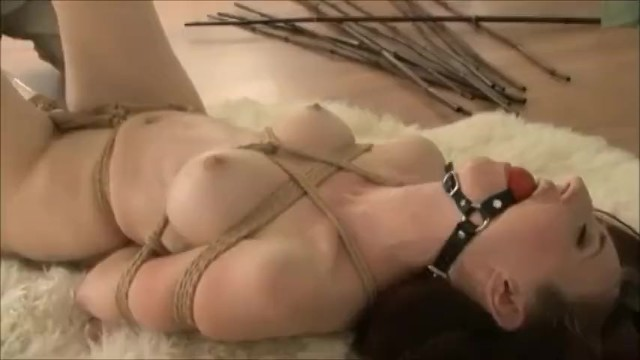 Young redhead girls naked Naked girl tied up and vibed on the floor
