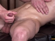 Twink cums as twunk gives intimate massage
