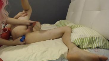 iliketobeaslut - Hot anal punishment with dildo