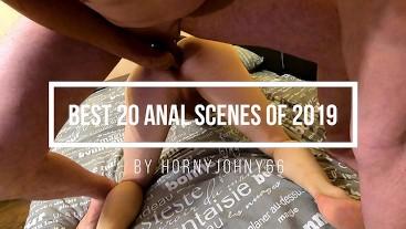 Best 20 bareback anal scenes 2019. Compilation by HornyJohny66
