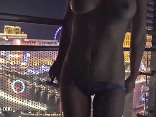 Striptease over the Las Vegas Strip