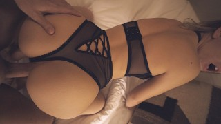 Stepsis shows off lingerie before I fuck her tight pussy - morningpleasure