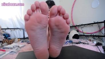 Shy Girl Shows Off Cute Feet
