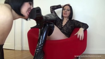 Training My Sissy To Lick My Boots - Lady Bellatrix sissification in Paris