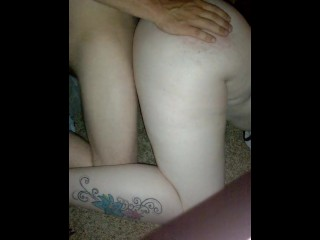 doggie and spanking and a finger in her ass