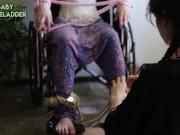 BTS Lesbian Wheelchair Bondage w/ Sophie Ladder