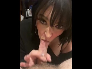 Sexy MLF gves NYE blowjob