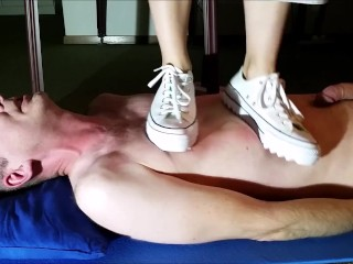 Trampling with Converse Sneaker