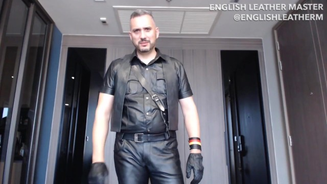 Le keller gay leather - Leather gloves jack off instruction joi preview