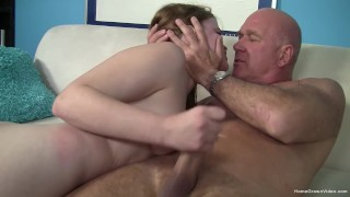 Innocent looking cutie fucked by an older man