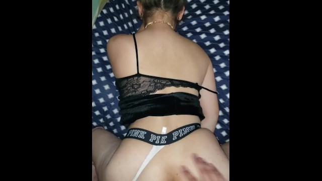 Victoria az escort - Fucked in my dress and boots while wearing victoria secret thong cumshot