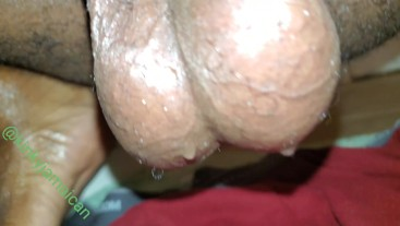 Huge wet Jamaican nuts after working out!