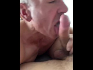 Extreme deep throat training and huffing with my...