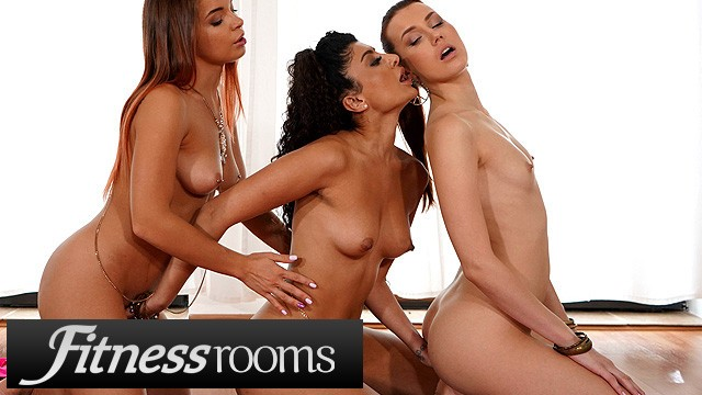 Fitness Rooms Charlie Red and Renata Fox threesome with Indian Marina Maya