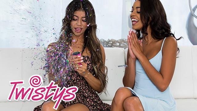 Teens who eat pussy - Twistys - glitter lesbians veronica rodriguez, vienna black eat ass