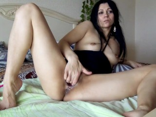 Russian Bitch Fucks Her Pussy With A Fist