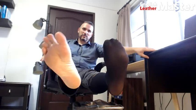 Gay worship feet - Business man shoe, size 12 feet and sheer sock worship preview