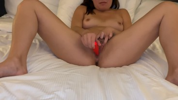 Playing with my Clit Until I Cum Hard - Hard Asian Orgasm Contractions