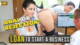 LOAN4K. Alex Black gives loan agent her juicy pussy for hard