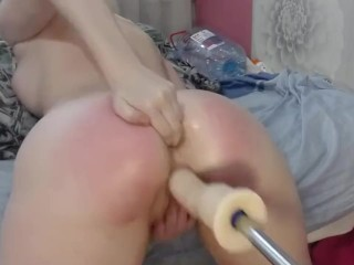 Red rpe Ass gets Fucked ng fngers n the Hole Squrt wth Orgasm