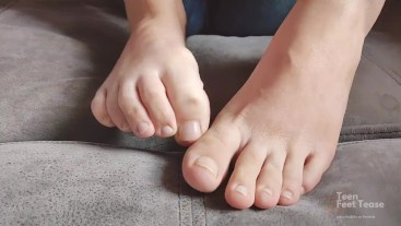 Smelly feet are ready for ur mouth