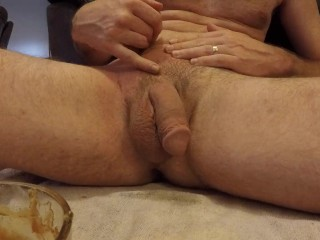 Male Depilation Sugaring Waxing Cock