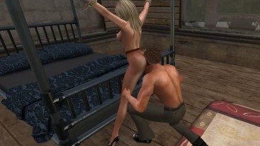 Pantyhose BDSM Bedroom Scene