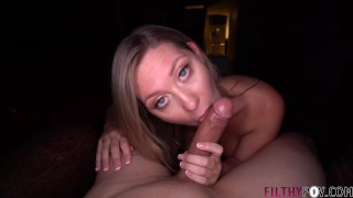 Hot Teen Addison Lee Gives POV Blowjob