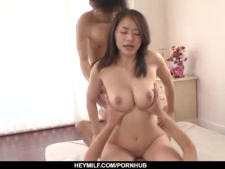 Group sex with busty Japanese hottie Kaede Niiy – More at Japanesemamas com