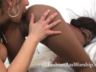 Essence and Sofia Devine Lesbian Ass Worship