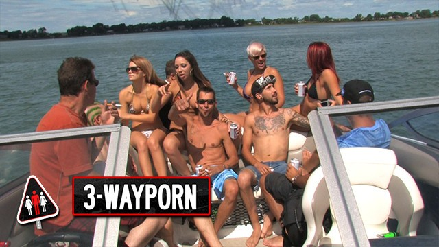 3-Way Porn - Big Boat Group Sex Party - Part 2